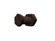 Rusty bolt and nut Stock Photography