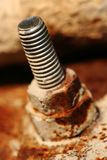 Rusty bolt of old construction Royalty Free Stock Photography