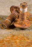 Rusty Bolts Royalty Free Stock Photography