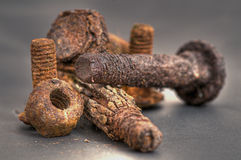 Rusty Bolts Stock Photography