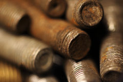 Rusty bolts Royalty Free Stock Images