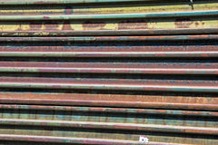 Rusty border fence. Between mexico and united states of america royalty free stock image