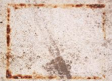 The rusty box on the old surface stock images