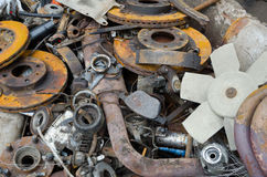 Rusty brake discs and other parts Royalty Free Stock Photography