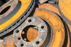 Rusty brake discs Stock Image