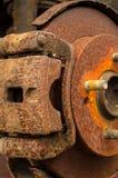 Rusty brakes Stock Image