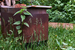 Rusty brazier Royalty Free Stock Image