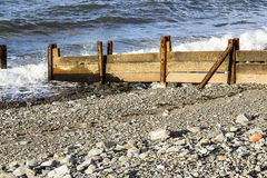 Rusty Breakwaters. Rusty Breakwater on the coast of North Wales, UK Stock Photography