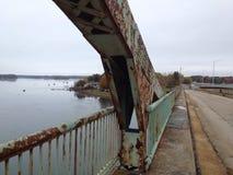 Rusty bridge beam royalty free stock photography