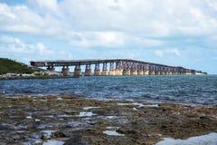 Rusty Bridge. Old rusty bridge on concrete pillards Royalty Free Stock Photography
