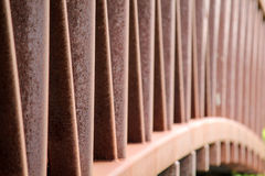 Rusty Bridge Railing Royalty-vrije Stock Afbeelding