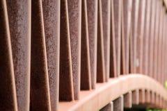 Rusty bridge railing Royalty Free Stock Image