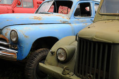 Rusty Broken Russian-made Cars Stock Images