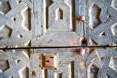 Rusty  brown    morocco in africa  facade home and safe Royalty Free Stock Photography