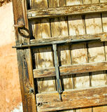 Rusty  brown    morocco in africa the old wood  facade home Stock Photos