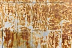 Rusty brown wall Stock Image