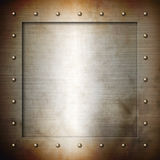 Rusty brushed Steel frame Royalty Free Stock Image