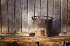 Rusty Bucket Royalty Free Stock Images
