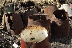 Rusty bucket Royalty Free Stock Photos