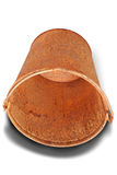 Rusty bucket (Clipping path) Royalty Free Stock Photography