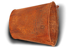 Rusty bucket (Clipping path) Stock Image