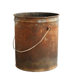Rusty bucket. Isolated on white background royalty free stock photography