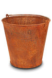 Rusty bucket (Clipping path) Stock Photos