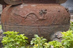 Rusty Buddhist Prayer Urn Royalty Free Stock Photo