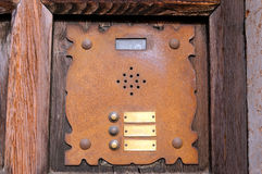Rusty Building Intercom - Verona Italy Stockfotografie