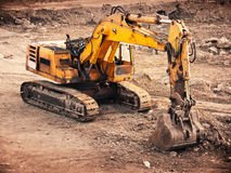 Rusty bulldozer. Old rusty bulldozer machine on a break royalty free stock photography