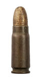 Rusty bullet. Ancient rusty cartridge, bullet isolated on white background Royalty Free Stock Image