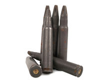 Rusty bullets Stock Images