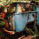 Rusty bulli. Car rusty abandoned Stock Photo
