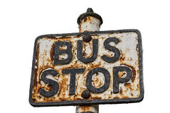 Rusty bus sign Royalty Free Stock Photo
