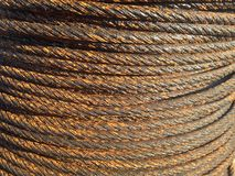 Rusty cable Stock Images