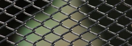 Rusty cage wire Royalty Free Stock Images