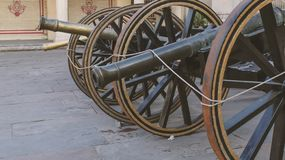 A rusty cannon outside the city palace, Jaipur royalty free stock photo