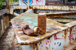 Rusty cans Royalty Free Stock Images