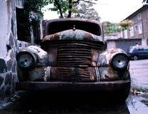 Rusty car. Forgotten rusty car, oldtimer, retro stock photo