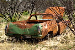 Rusty car. Abandoned Rusty Car In The Australian Bush Royalty Free Stock Image
