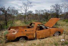 Rusty car. Abandoned Rusty Car In The Australian Bush Stock Photo