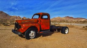 Rusty car. In Death Valley nevada desert Stock Photo