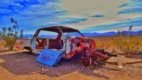 Rusty car. In Death Valley nevada desert Royalty Free Stock Photos