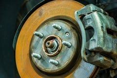 Rusty Car Disc Brake Imagen de archivo libre de regalías