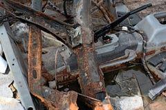 Rusty Car fuori bruciato Fotografia Stock