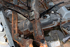 Rusty Car para fora queimado Foto de Stock