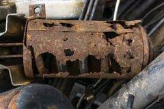 Rusty car parts. Stock Photo