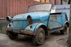 Rusty car from USSR. Royalty Free Stock Photos