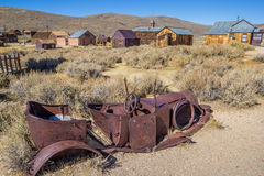 Rusty car wreck in Bodie Royalty Free Stock Photos