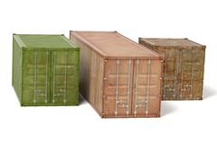 Rusty cargo containers Stock Images